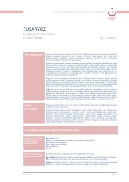 Fusaryoz - Türkiye Halk Sağlığı Kurumu