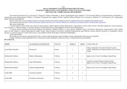 tc adnan menderes üniversitesi rektörlüğünden 04/10/2014 tarihli