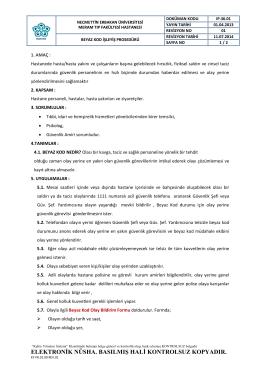 BEYAZ KOD PROSE DÜRÜ - Meram Tıp Fakültesi