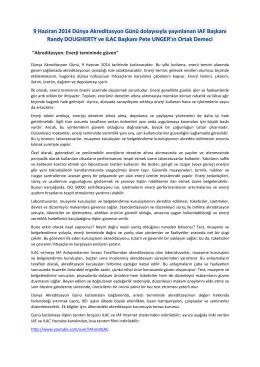 ILAC IAF Dünya Akreditasyon Günü Mesajı