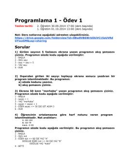 Programlama 1