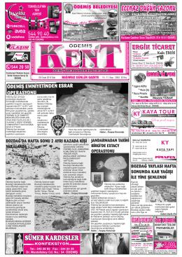 06-01-2015 Tarihli Kent Gazetesi