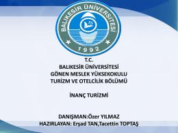 inanç turizmi a - Dr. Özer YILMAZ