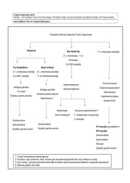 Konjenital Adrenal Hiperplazi Tedavi Algoritması Klasik tip Non