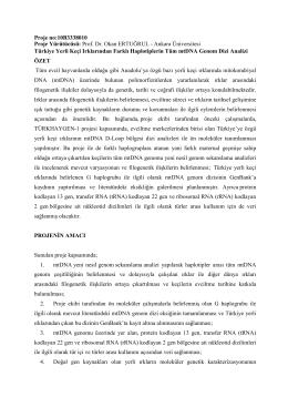 Proje no:10B3338010 Türkiye Yerli Keçi Irklarından