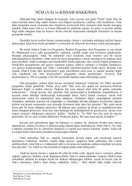 nuh a.s ve kıssası hakkında (pdf)