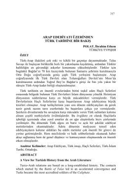 POLAT, İbrahim Ethem-ARAP EDEBİYATI ÜZERİNDEN TÜRK