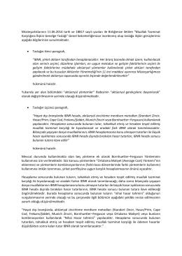Müsteşarlıklarının 11.06.2014 tarih ve 18817 sayılı yazıları ile