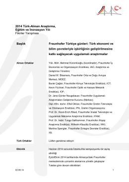 Fraunhofer Türkiye günleri
