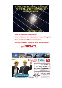 ikçü-güneş enerji santrali kurulum ve bakım akredite sertifikalı eğitim