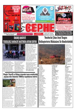 19.06.2014 Tarihli Cephe Gazetesi