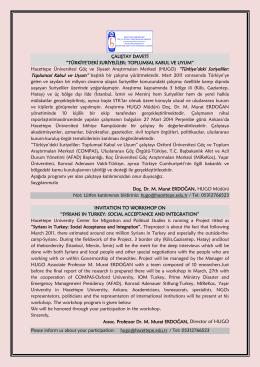 Çalıştay Programı (pdf, 325 KB) - Konrad-Adenauer