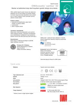 OWAcoustic® sanitas® 02