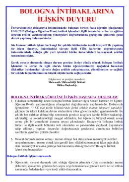 Bologna_Intibak_Duyurusu - Matematik Mühendisliği