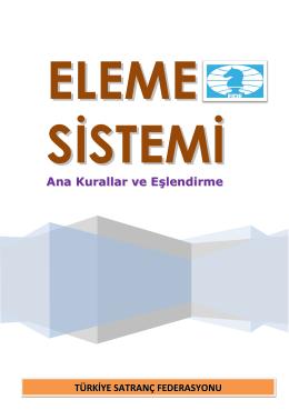 ELEME SİSTEMİ - Türkiye Satranç Federasyonu