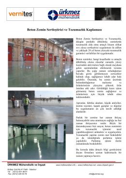 PDF Broşür İndir - Ürkmez Mühendislik