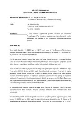 Milli Eğitim Bakanlığı - Türk Dermatoloji Derneği