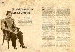 II. Abdülhamid ve Sansür Gerçeği