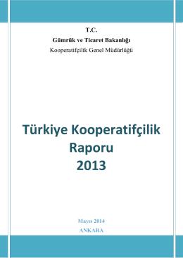 Türkiye Kooperatifçilik Raporu 2013