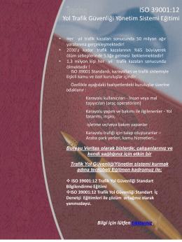 ISO 39001:12 - Bureau Veritas Türkiye