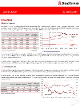 20 Kasım 2014 tarihli piyasa yorumu