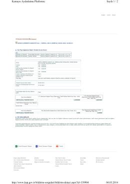 Sayfa 1 / 2 Kamuyu Aydınlatma Platformu 04.03.2014 http://www.kap