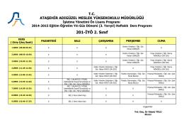 201-İYÖ 2. Sınıf - Ataşehir Adıgüzel Meslek Yüksekokulu