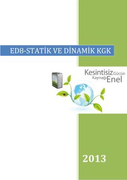 ED8-STATİK VE DİNAMİK KGK