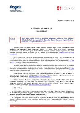 2014-65 Yeni TTK Uyarınca Bağımsız Denetime Tabi Olacak
