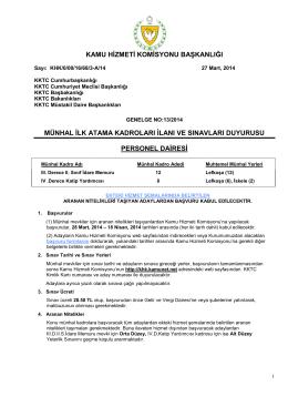 Personel Dairesi - Kamu Hizmeti Komisyonu