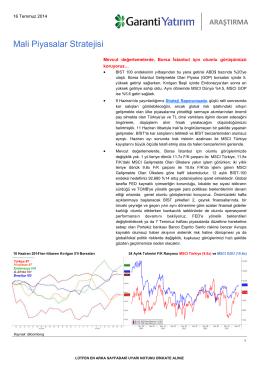 Mali Piyasalar Stratejisi
