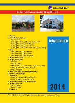 2015 eğitim öğretim yılı kayıt bilgilendirme klavuzu