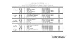 Vize Sınav Programı - KLU