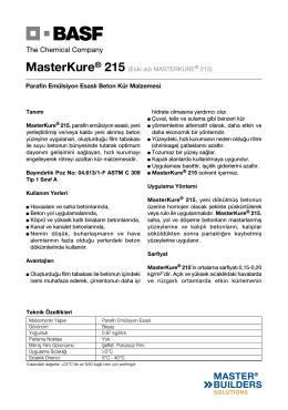 MasterKure® 215 (Eski adı MASTERKURE® 215