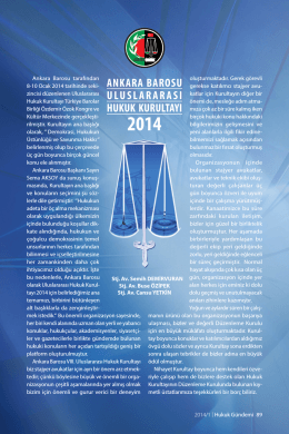 Ankara Barosu Uluslararası Hukuk Kurultayı 2014