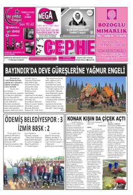 10.12.2014 Tarihli Cephe Gazetesi