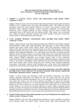 (Çift Numaralar ve II. Öğretim) (02 Temmuz 2014)