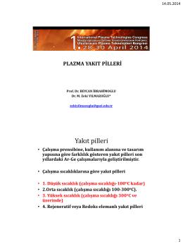 plazma yakıt pilleri