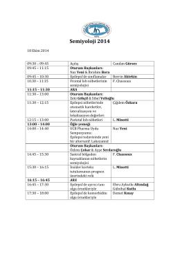 Semiyoloji 2014