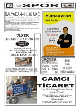 BALYADA 4-4 LÜK MaÇ - bizim ivrindi gazetesi haber sitesi