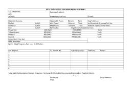 Yeni Kayıt Formu - Dicle Üniversitesi