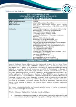 3. Toplantı Tutanağı - İpekyolu Kalkınma Ajansı
