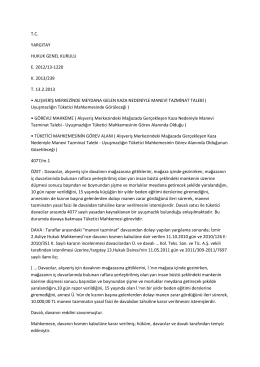 14.10.2014- Borçlar Hukuku Genel Hükümler (kararlar)