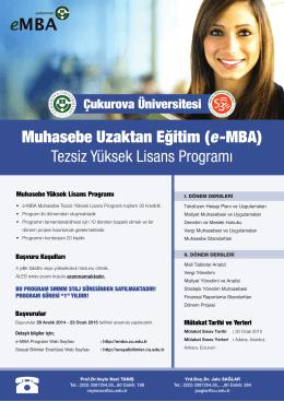 Muhasebe Uzaktan Eğitim (e-MBA)