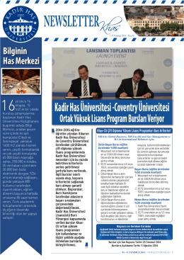 Kadir Has Üniversitesi -Coventry Üniversitesi