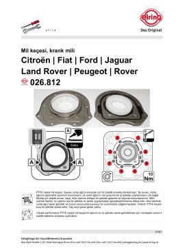 Citroën | Fiat | Ford | Jaguar Land Rover | Peugeot | Rover
