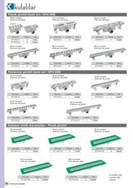 Plastik gövdeli klasik seri / MTS 9600 Paslanmaz gövdeli klasik seri