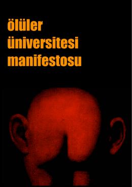 Ölüler Üniversitesi Manifestosu