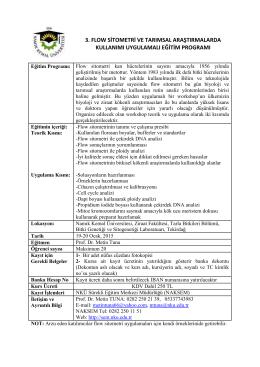 3.Flow Sitometri ve Tarımal Araştırmalarda Kullanımı