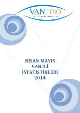 nisan-mayıs van ili istatistikleri 2014